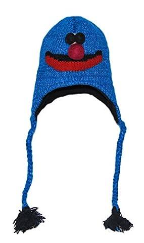 Ski Monstre Gratuit Costume - Grover Sesame Street knitted Animal Hat Child