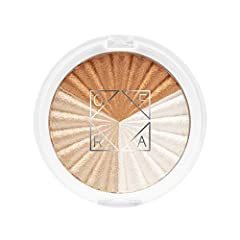 The Everglow Highlighter in the set resembles that spinning beach ball cursor, but it's real, it's shiny, and it's not annoying. There are three shades in the compact: a peachy bronze, a rose-gold beige, and a pale champagne. One swipe of you...