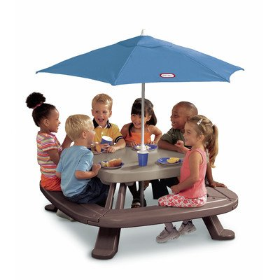 Little Tikes Fold N Store Table With Market Umbrella by Little Tikes