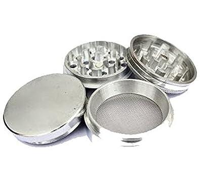 JaipurCrafts Metallic Herb Crusher with Filter(42mm, Silver)