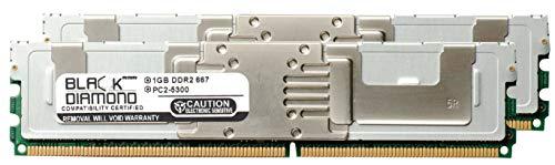 2GB 2X1GB Memory RAM for Compaq ProLiant xw460c Blade Workstation Black Diamond Memory Module 240pin PC2-5300 667MHz DDR2 Fully Buffered FBDIMM -