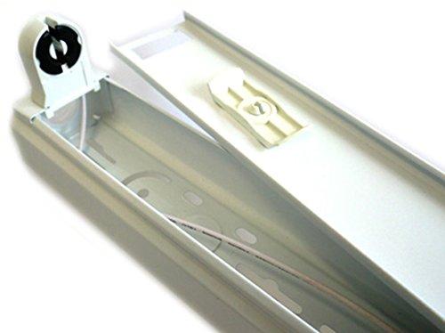 Plafoniere Per Tubi Al Neon : Portalampada plafoniera singolo tubo neon t a led da cm amazon