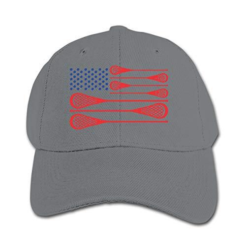 Infant Toddler Baby USA Flag Lacrosse Baseball Cap Adjustable Trucker Cap Sun Visor Hat Gray (Lacrosse Stick And Eyewear)