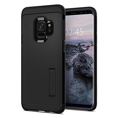 Capa Spigen para Galaxy S9 (Tela 5.8), Spigen Tough Armor [Mil-Grade][Air Cushion], Samsung Galaxy S9 (SM-G960) (Preta - Black) (Preto - Black)