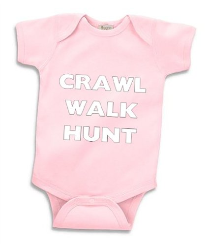 Southern Designs Girls Crawl Walk Fish Baby Body Suit - Funny Baby Clothing for Future Fisherman (12 Month, Pink)