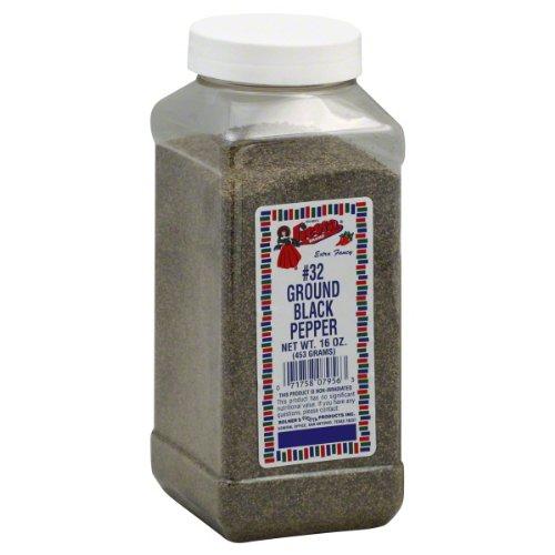 Bolner's Fiesta Ground Black Pepper, 16-Ounce (Pack of 3)