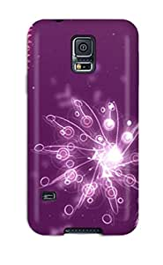 Fashion Protective Purple Sparkles Case Cover For Galaxy S5