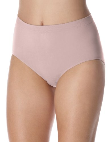 Barelythere Women's Solid  Microfiber Full Brief Panty, Rosewood, 6/7