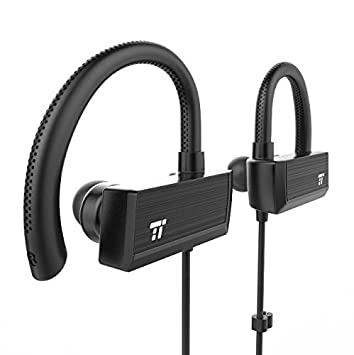 TaoTronics Bluetooth Headphones, Wireless in Ear Earbuds, Sports Earphones with 360 Adjustable Earhooks 15 Hour Playtime, aptX Lossless Sound and CVC 6.0 Noise Cancelling Mic, IPX5 Sweat Proof