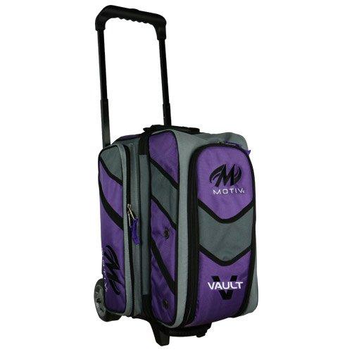 MOTIV Vault 2 ball roller Bowling Bag Black/Grey/Purple by Motiv