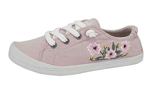 Jellypop Floriana Womens Slip On Sneakers Light Pink Canvas QLIxbH