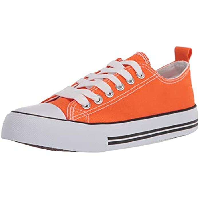 The Fashion Supply Low Top Cap Toe Women Sneakers Tennis Canvas Shoes Casual Shoes for Women Flats