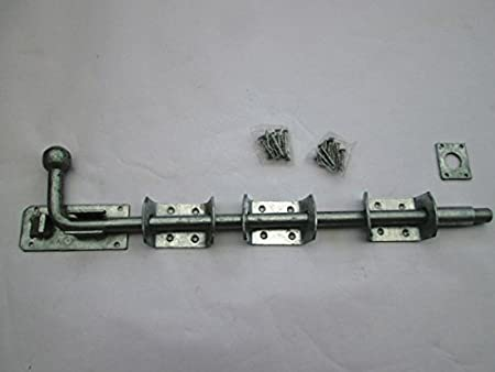 """450mm x 16mm Gatemate Galvanised 18/"""" x 5//8/"""" Heavy Locking Garage Door Bolt"""