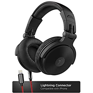 Flashandfocus.com 41Q7LBpe5SL._SS300_ Thore Over Ear iPhone Headphones with Lightning Connector (Apple MFi Certified) – Closed Back Studio DJ Monitor…