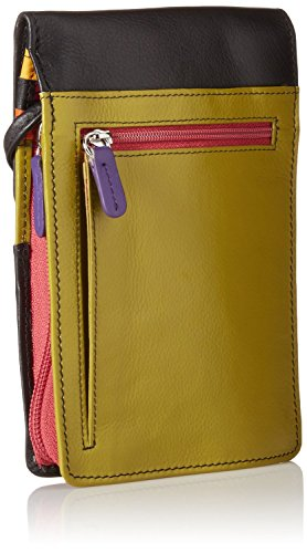with Olive New ili RFID Blocking Leather York Organizer Crossbody 6827 Lining HvY67q