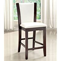 247SHOPATHOME Idf-3710WH-PC Dining-Chairs, White