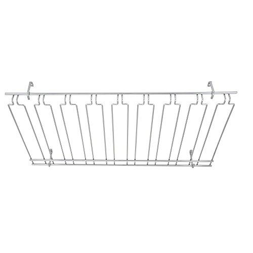 (Winco GHC-1836, 18x36x4-Inch Overhead Glass Rack, 8 Channels Chrome Plated Bar Glass Holder, Stemware Rack )