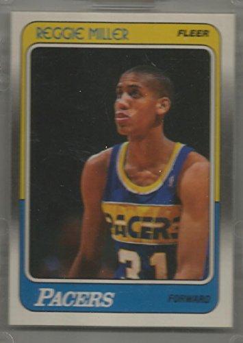 (1988-89 Fleer Basketball Reggie Miller Rookie Card # 57 Near Mint)