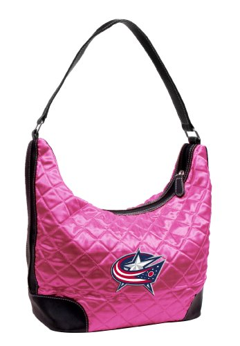 NHL Columbus Blue Jackets Quilted Hobo (Pink Nhl Jacket)