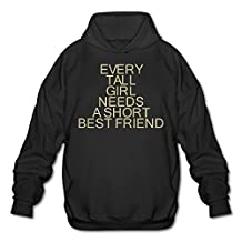 Every Tall Girl Needs A Short Best Friend Unique Pullover Hoodie Sweatshirt Long Sleeve Sports Tops Hooded For Men