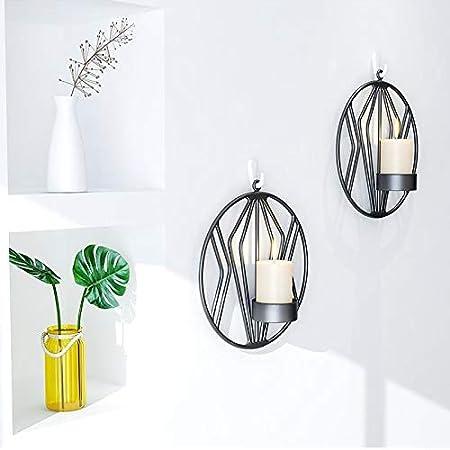 /Éclairage Pour Le D/îner Aux Chandelles Dans Le Salon // Salle /À Manger // Comptoir Noir/×2 Chandeliers Muraux En M/étal D/écorations Murales
