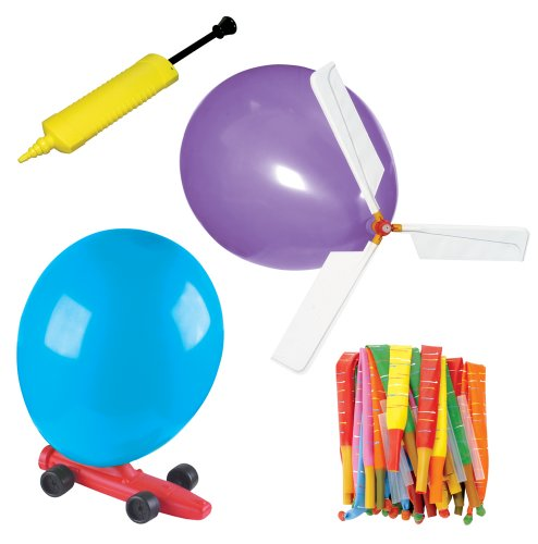 Toysmith Balloon Powered Vehicle Set (Science Rocket Car Kit)