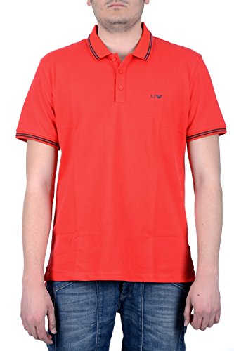 Armani Jeans Polo Shirt Basic Tipped in Red