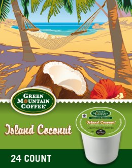 Green Mountain Coffee Island Coconut K-Cup Coffee(pack of 72)