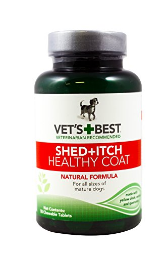Veterinarian's Best Healthy Coat Shed and Itch Relief Chewable Tablets (2 Pack - 100 Tablets)
