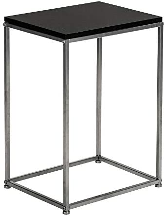 Knocbel End Table Sofa Couch Side Snack Table with Metal Base, 15 L x 11.8 W x 20.8 H Black