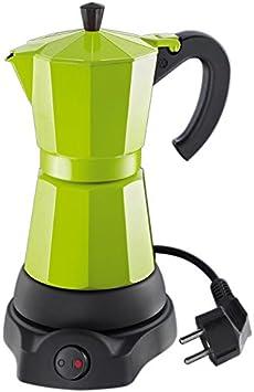 Cilio 273878 Classico - Cafetera eléctrica (6 Tazas), diseño de cafetera Italiana, Color Verde: Amazon.es: Hogar