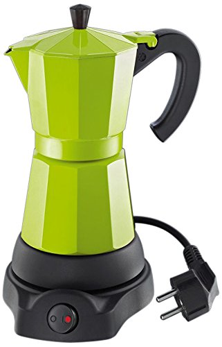 Cilio 273878 Classico - Cafetera eléctrica (6 Tazas), diseño de cafetera Italiana, Color Verde