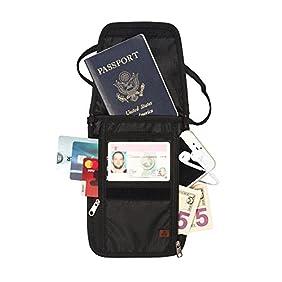 RFID Blocking Passport Holder & Neck Stash from Tarriss - Lifetime Warranty