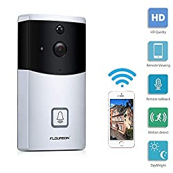 Floureonwifivideo Doorbell Camera 720psmartdoorbell Waterproof Wireless Security Camera With Real Time Two Waytalk Pir Motion Detection Night Vision App Remote Control For Ios And Android