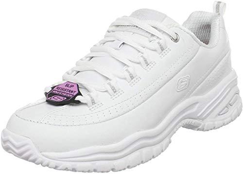 Skechers for Work Women's Soft Stride-Softie Lace-Up, White, 6.5 B - Medium
