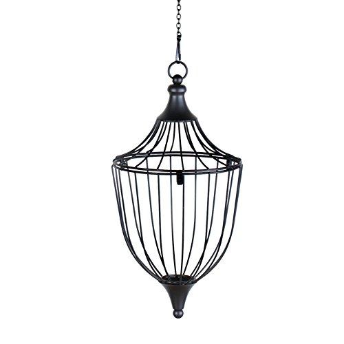 Elegant Hanging Wire Basket Planter, Tapered by Collections Etc