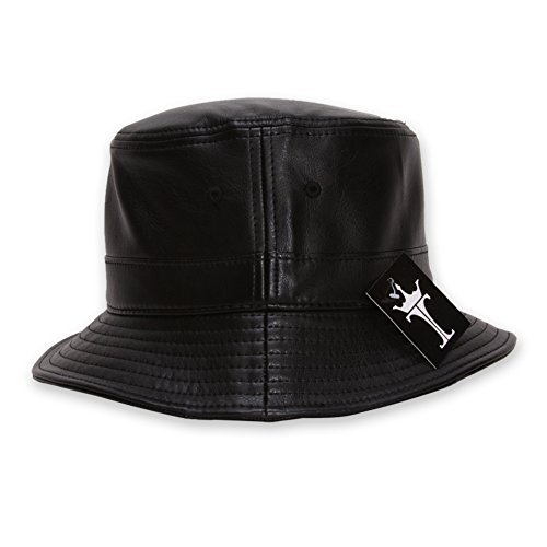 TOP HEADWEAR TopHeadwear Faux Leather Bucket Hat - ()