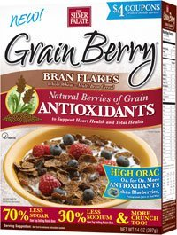 Grain Berry Cereal, Bran Flakes, (The Silver Palate), 12 Oz (Pack of 4)