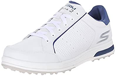 Skechers Performance Men's Go Golf Drive 2 Golf Shoe, White/Navy, 7 M US