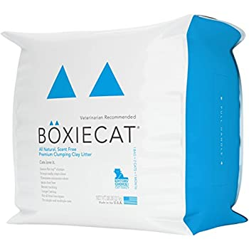 Boxiecat Premium Clumping Clay Cat Litter, 28 lb