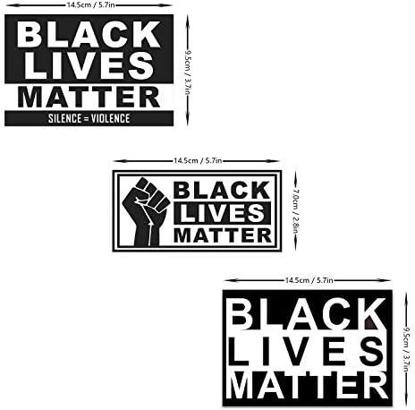 Applikationsaufkleber Auto Aufkleber Black lives Matter Konturlos 27x3cm
