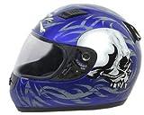 Daytona Helmets Shadow Blue Skulls Full Face Helmet