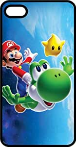 Mario & Yoshi Black Rubber Case for Apple iPhone 5 or iPhone 5s