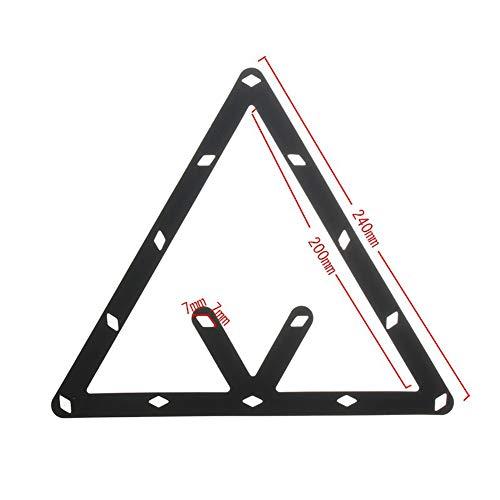 (pushfocourag 6Pcs 8 9 10 Ball Magic Invisible Rack Sheet Positioning Billiard Pool Cue Tool Billiard ball patch triangle box kick ball stickers - Black )