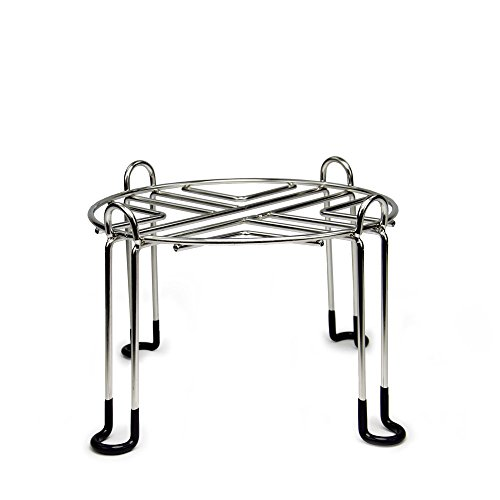 8in Water (Berkey Water Filter Stainless Steel Wire Stand with Rubberized Non-skid Feet for TRAVEL Berkey and Other SMALL Sized Gravity Fed Water Filters - Raises your Berkey 6 inches)