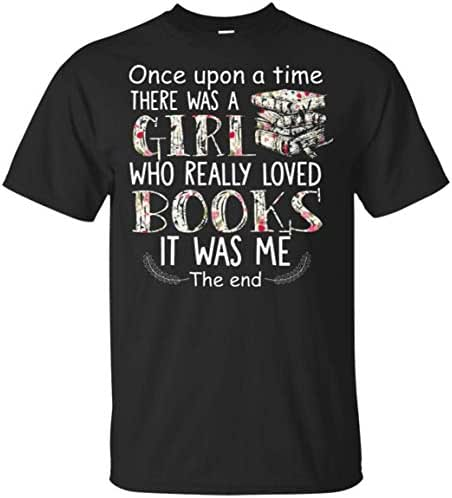 iTeeShop68 Once Upon A Time There was A Girl Who Really Loved Books Unisex Cotton T-Shirt for Men