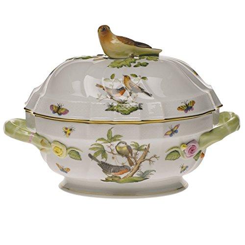 Herend Rothschild Bird Tureen With Bird - Bird Tureen