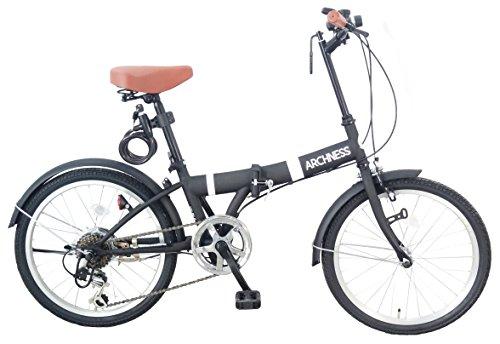 [해외] ARCHNESS 206-A 접이식 자전거 20인치 6 단변속 와이어정・LED라이트부