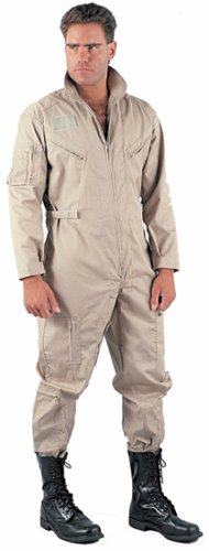 43943b9e756f Amazon.com  Khaki US Air Force Flight Suit 7508 Size XL  Overalls And  Coveralls Workwear Apparel  Clothing