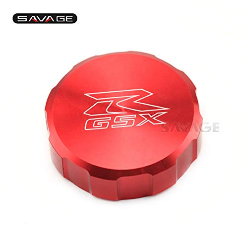 NAHASU Covers & Ornamental Mouldings | Front Brake Reservoir Cover Cap for Suzuki GSXR GSX-R 600/750/1000 GSXR600 GSXR750 GSXR1000 GSX-R1000 Oil Fluid Cylinder Logo